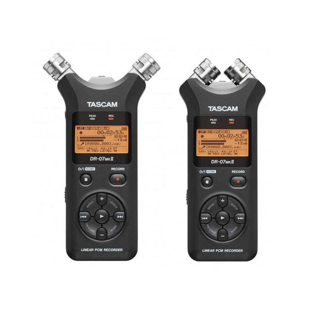 Tascam DR-07 MK II Gravador Digital de Áudio Voz, Preto