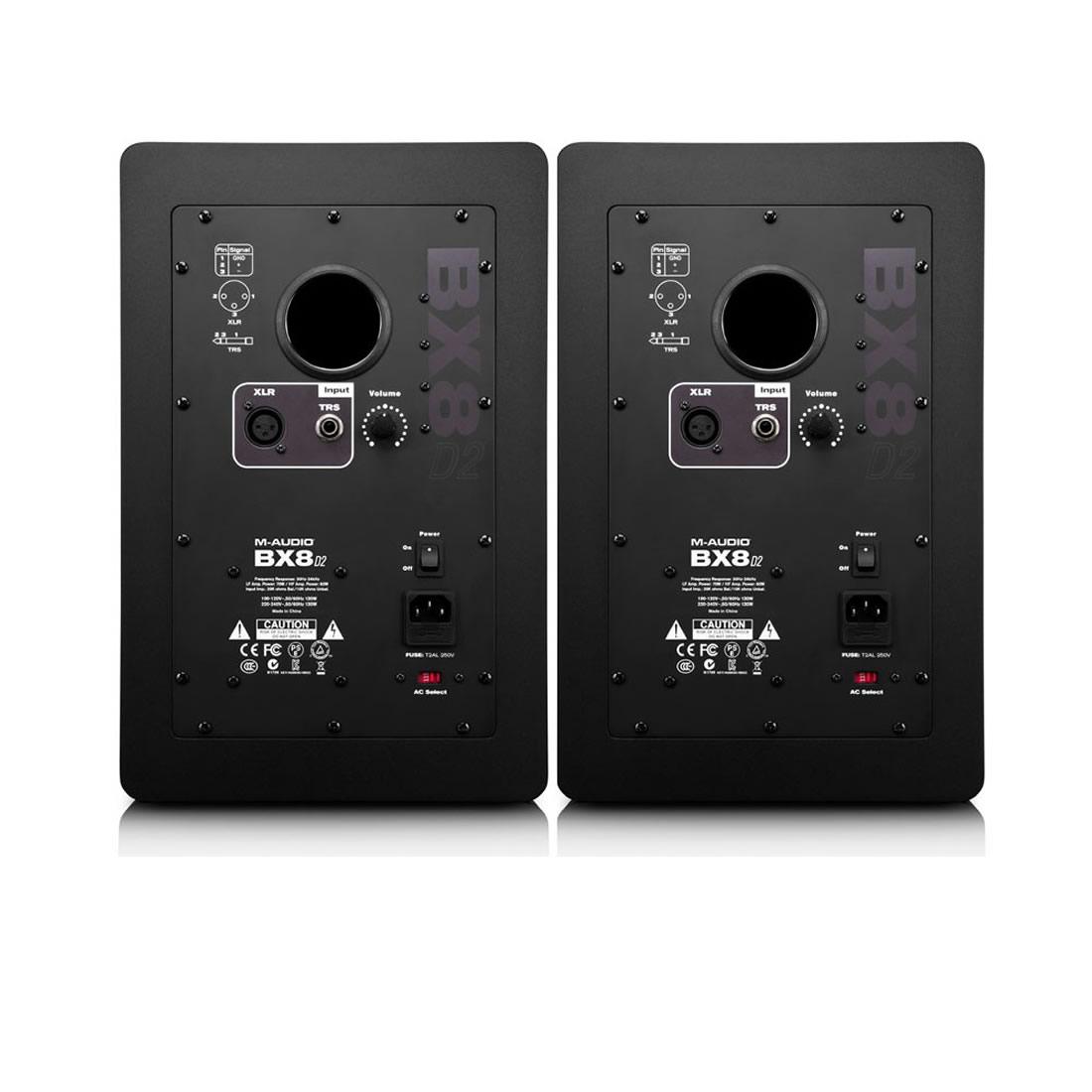 M-Audio BX8 D2 Monitor de �udio Ativo 130W, 8