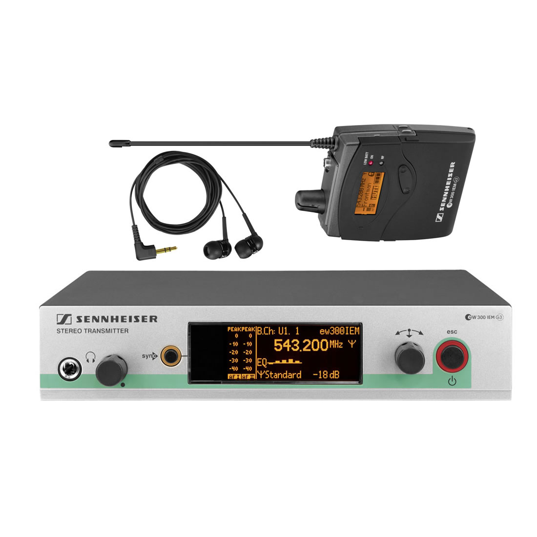 Sennheiser EW 300 IEM G3 Sistema Microfone Sem Fio, Monitoramento