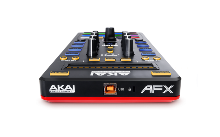 Akai AFX Controladora Serato, 9 Knobs, 8 Pads, Usb