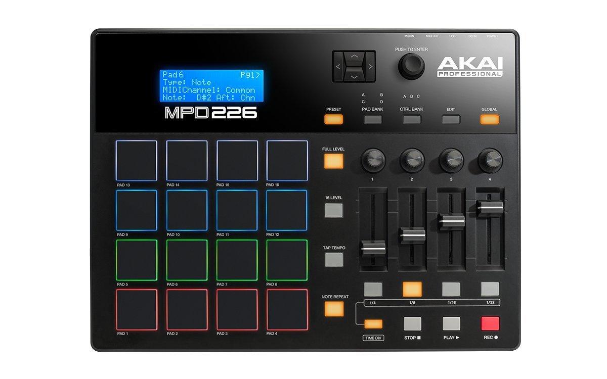 Akai MPD 226, Controladora Midi, 16 Pads Sensíveis RGB, Usb