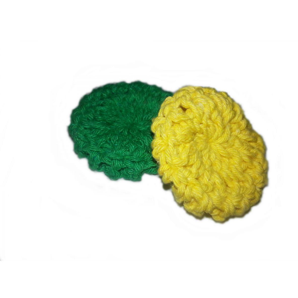 Almofada para Fone de Ouvido Koss Porta Pro, Verde e Amarelo