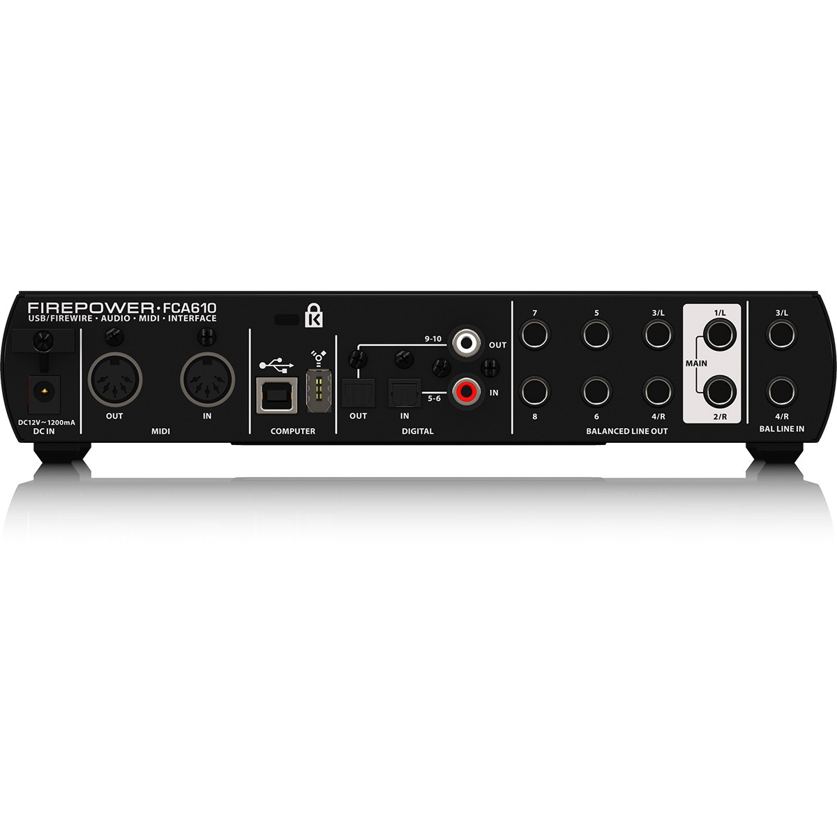 Behringer FCA610 FirePower Interface de Audio, Usb, Bivolt