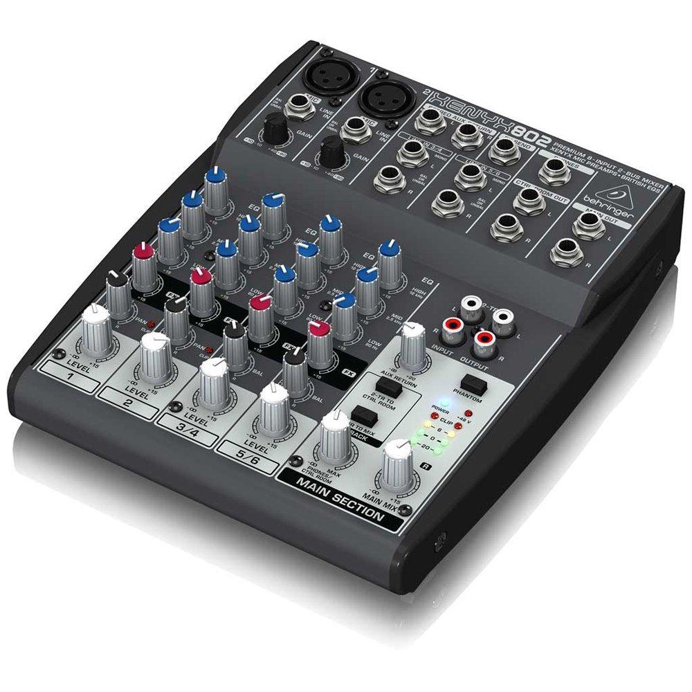 Behringer XENYX 802 Mesa Mixer 8 Canais, 220v