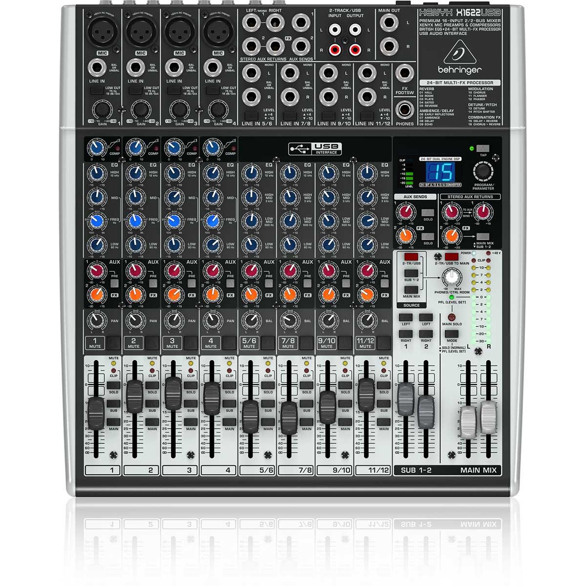 Behringer Xenyx X1622USB Mesa Mixer, 16 canais, Usb, 220v