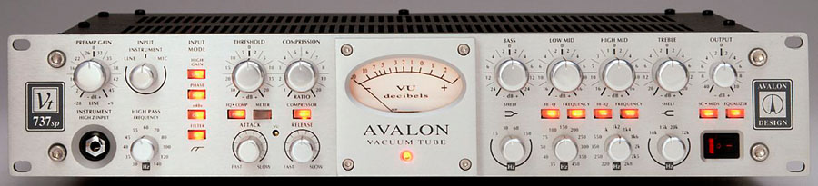 Avalon VT 737SP Compressor e Equalizador De Áudio