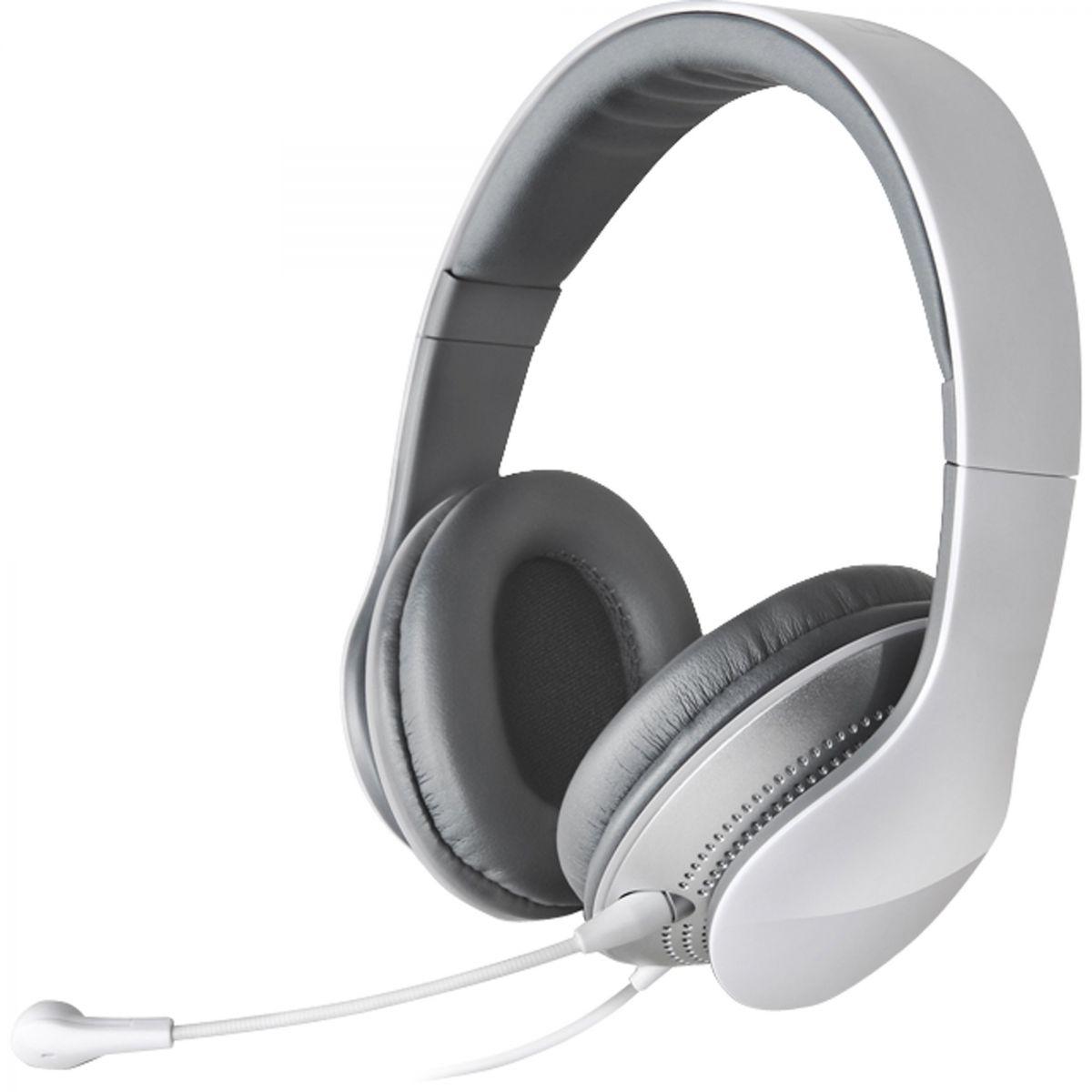 Edifier K830 Fone com Microfone, Headset Gamer, Branco e Cinza