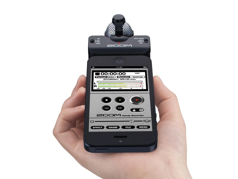 Zoom IQ5 Gravador Digital De Audio Voz, Iphone