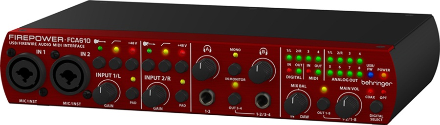 Behringer FirePower FCA-610 Interface de Audio, Usb