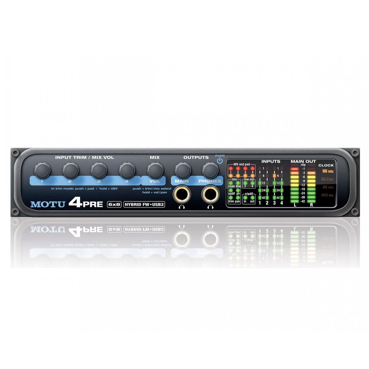 Motu 4 Pre Hybrid Interface de Audio FireWire/USB
