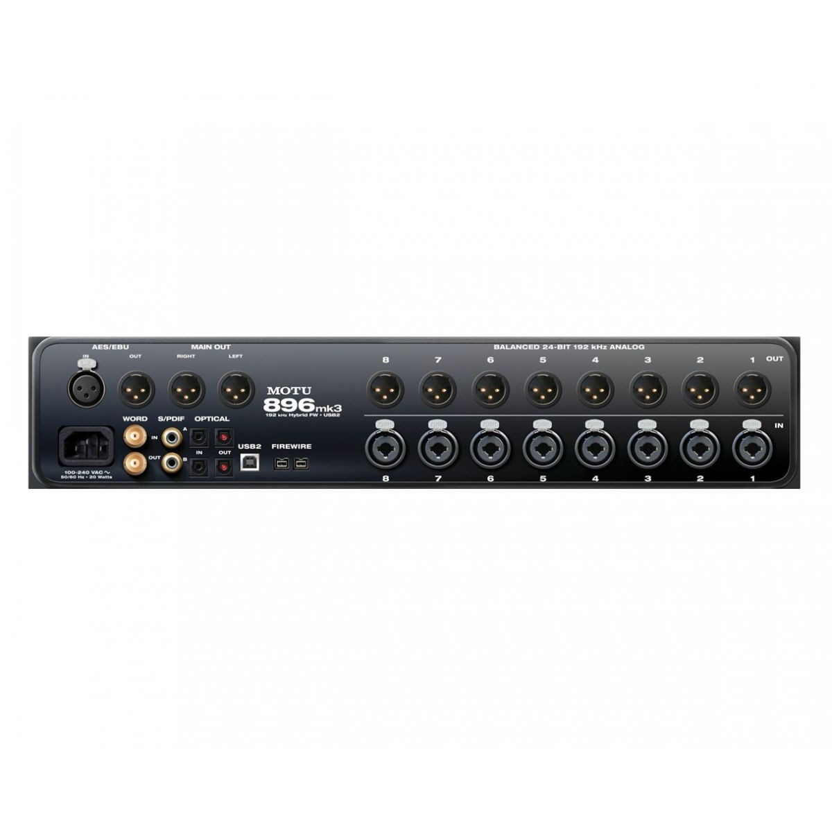 Motu 896 MK 3 Hybrid Interface de Audio FireWire/USB