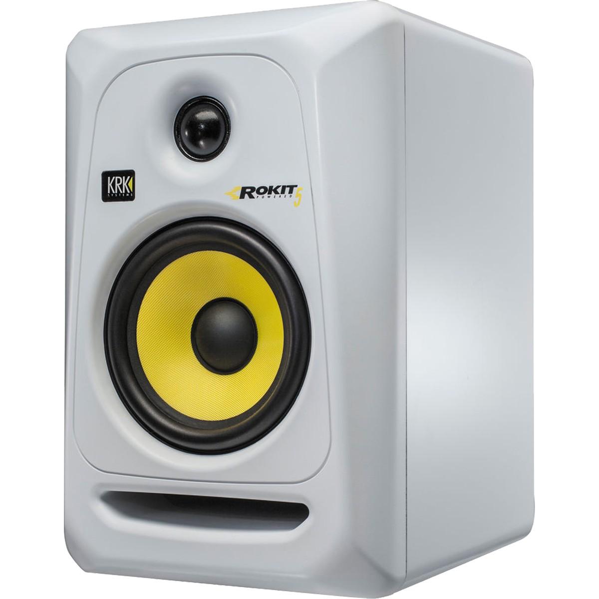 Krk RP5 G3 Rokit Powered Monitor de Audio Referencia para Estudio, Branco, 110v, Unidade