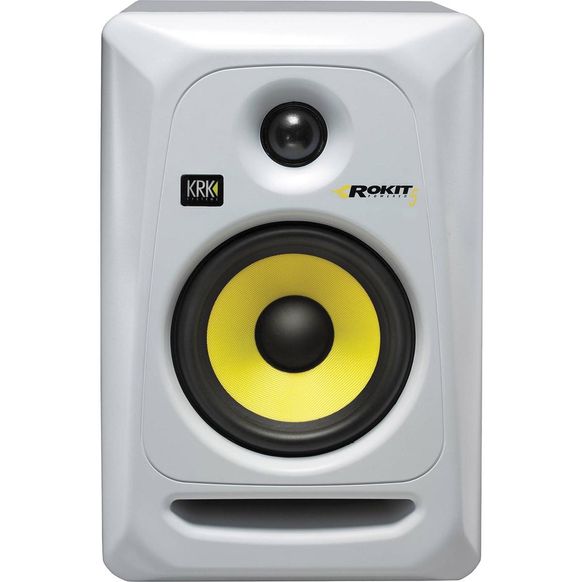 Krk RP5 G3 Rokit Powered Monitor de Audio Referencia para Estudio, Branco, 220v, Unidade