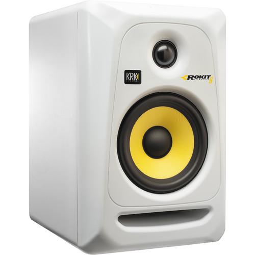KRK Rokit 6 G3 RP6 Monitor de Áudio, Branco, 110v, Unidade