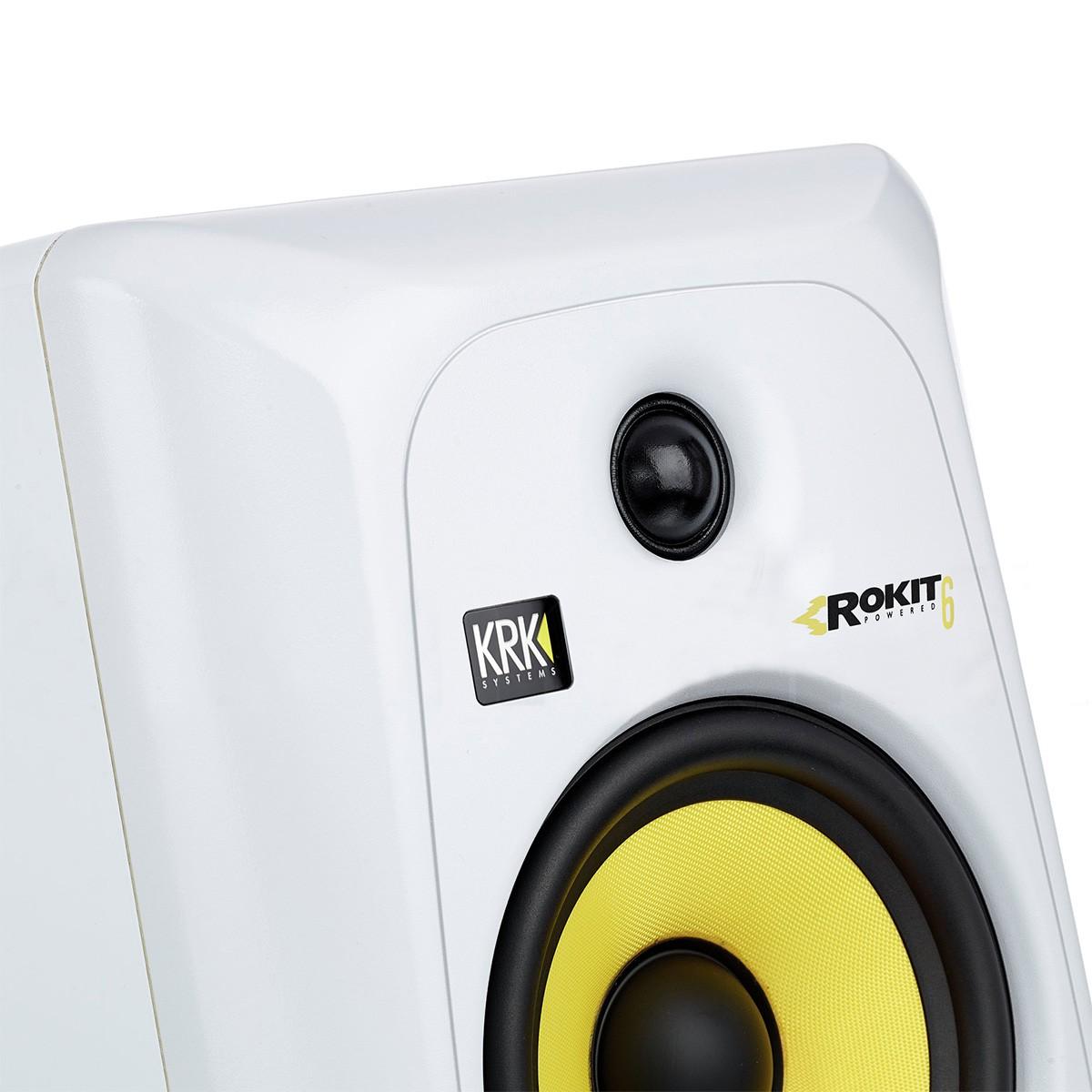 Krk RP6 G3 Rokit Powered Monitor de Audio Referencia para Estudio, Branco, 220v, Par