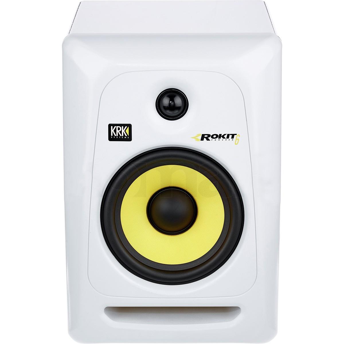 Krk RP6 G3 Rokit Powered Monitor de Áudio Referencia para Estudio, Branco, 220v, Unidade