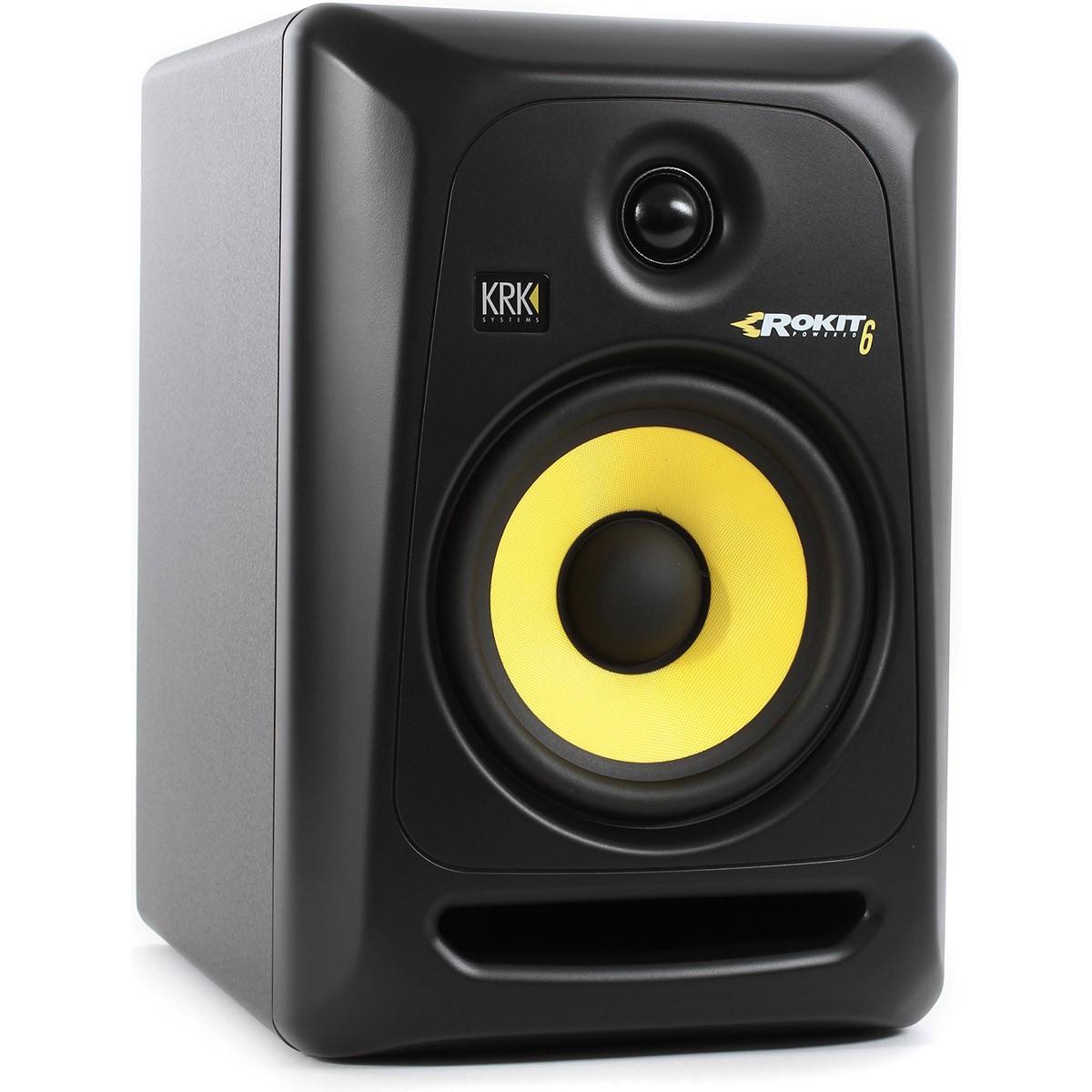 Krk RP6 G3 Rokit Powered Monitor de Audio Referencia para Estudio, Preto, 220v, Par