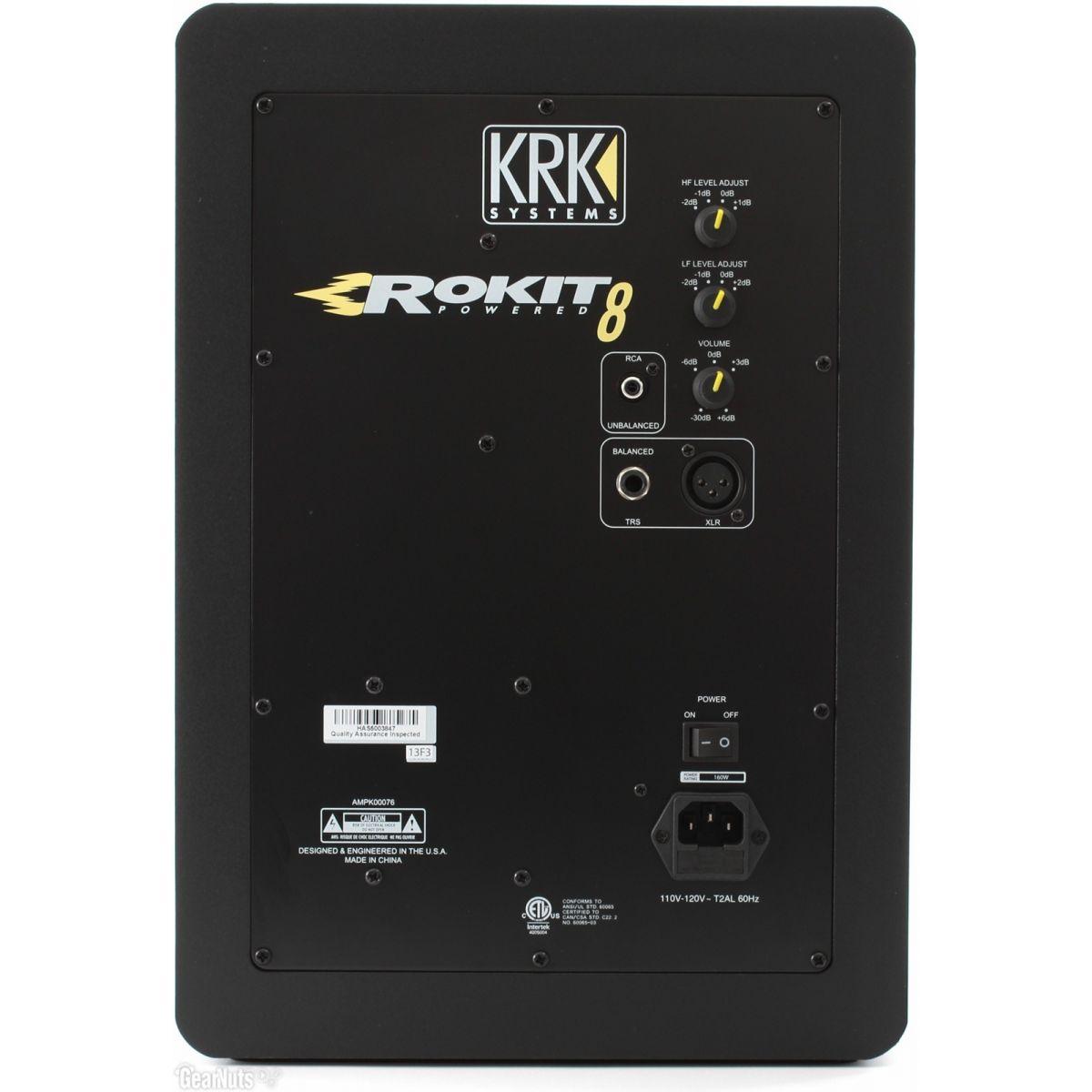 KRK Rokit 8 G3 RP8 Monitor de Áudio, Preto, 220v, Par