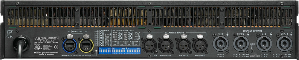 Lab Gruppen FP 10000 Q Amplificador 4 Canais