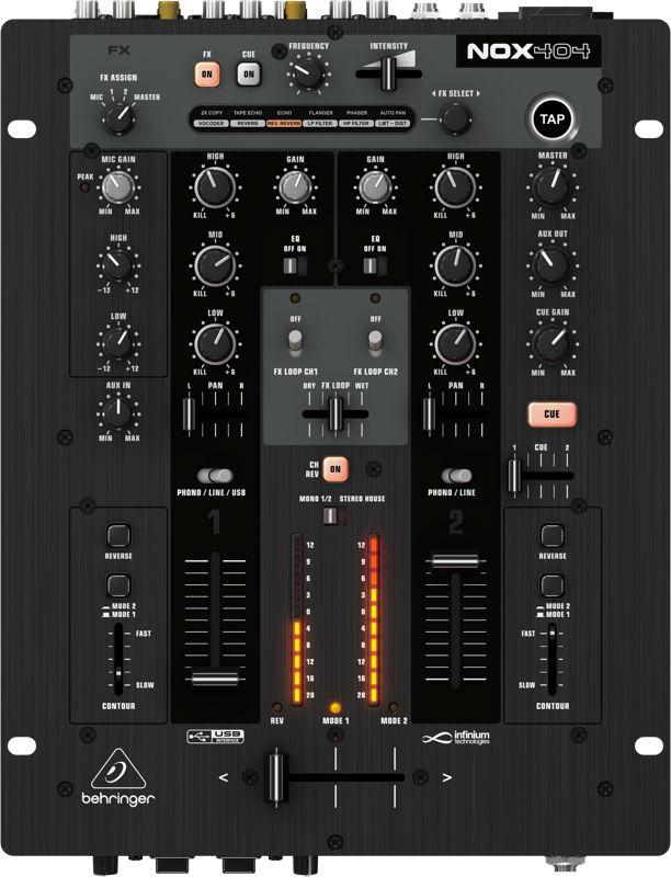 Behringer NOX-404 Mixer Dj, 110v