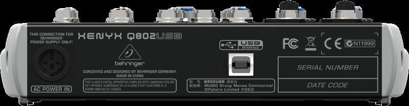 Behringer Xenyx Q802 Usb Mesa Mixer 8 Canais, 220v