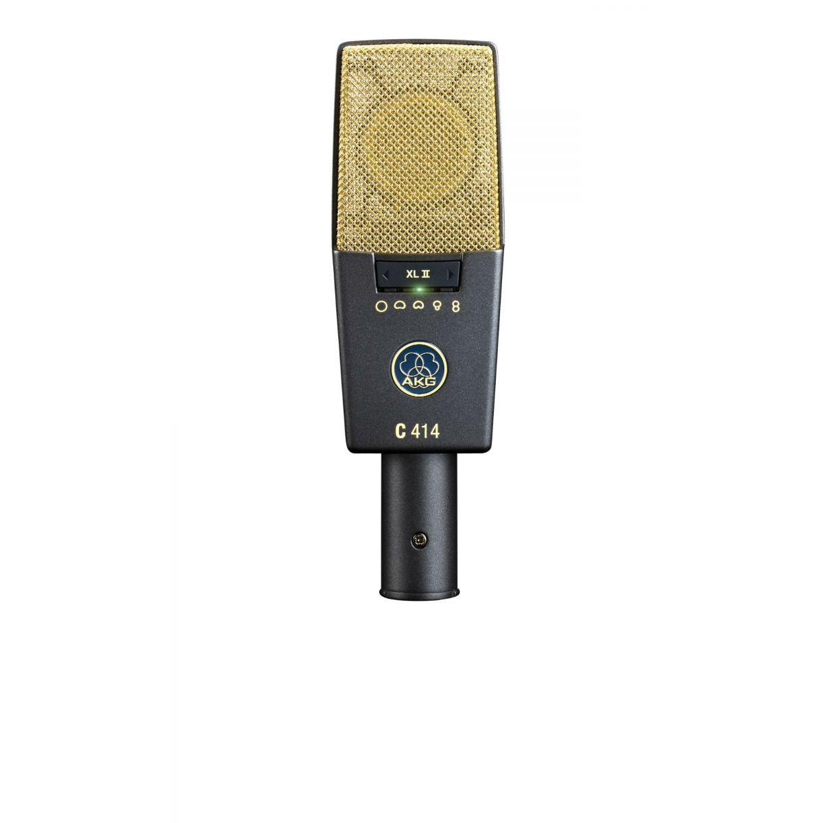 Akg C414 XL 2 Microfone Condensador, Maleta+Suporte