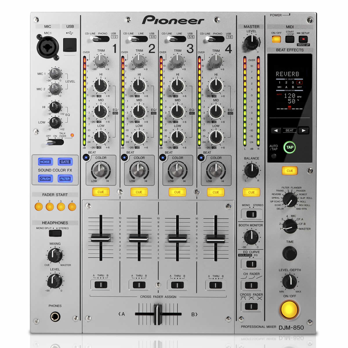 Pioneer DJM-850 Mixer Dj, Prata, bivolt