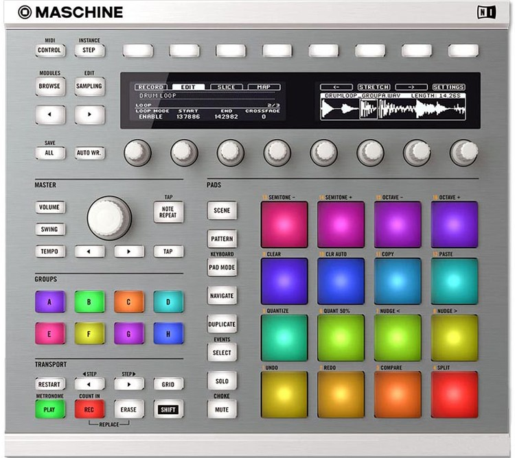 Native Maschine MKII Sampler, Branca