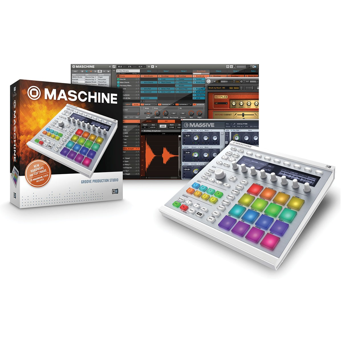 Native Instruments Maschine MKII Sampler, Branca