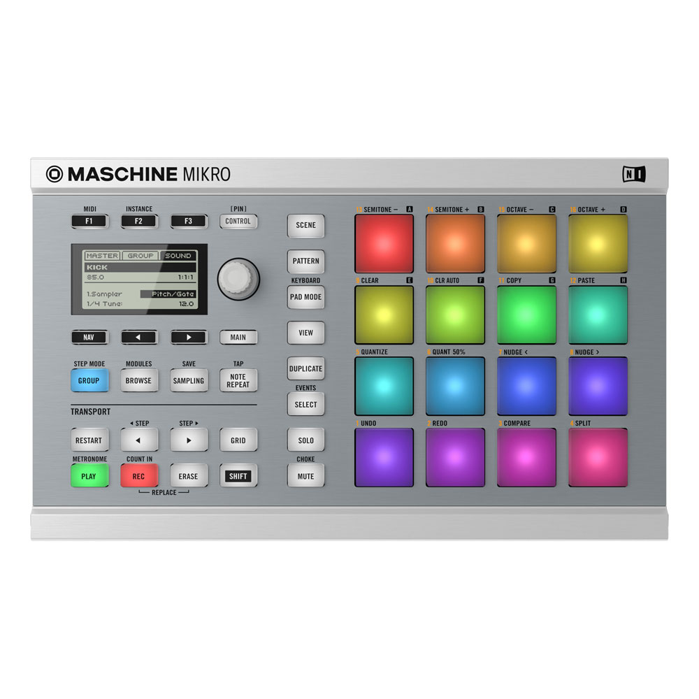 Native Maschine Mikro MKII Sampler, Branca