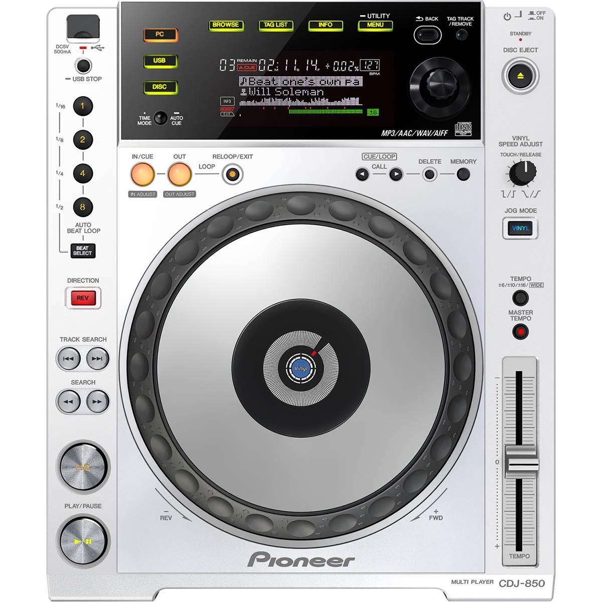 Pioneer CDJ-850, Rekordbox, Branco, 220v