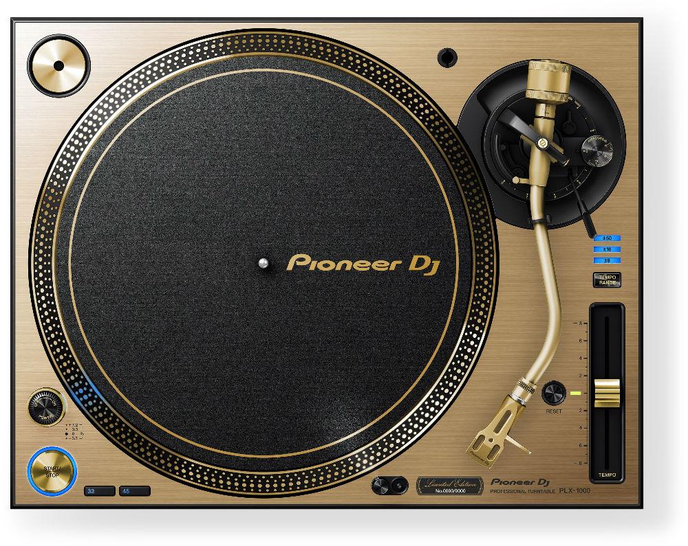Pioneer PLX-1000N Toca Disco, Dourado