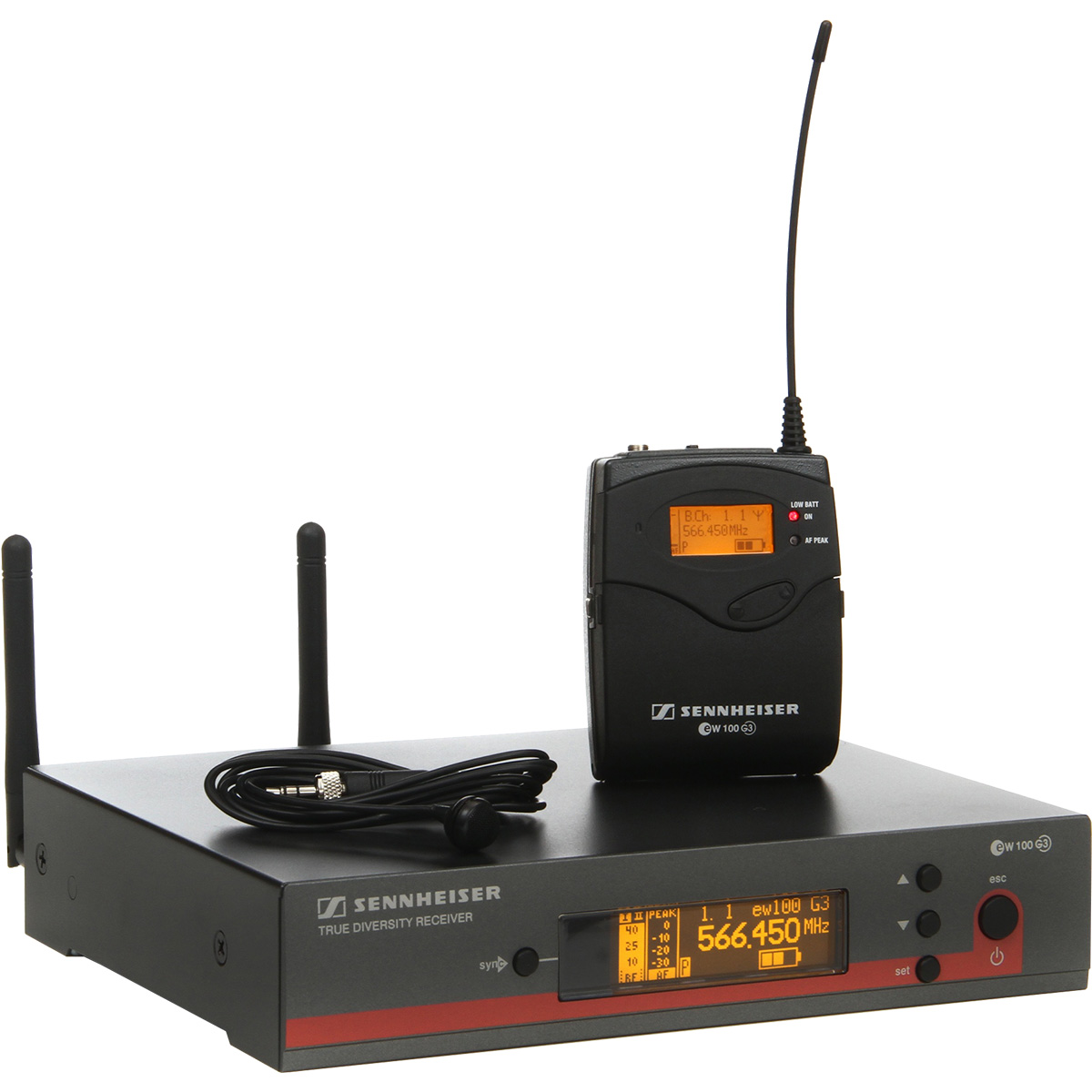 Sennheiser EW 122 G3 Sistema Microfone Sem Fio, Inclui Lapela ME4
