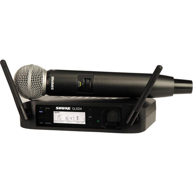 Shure GLXD24/SM58 Sistema Microfone Sem Fio