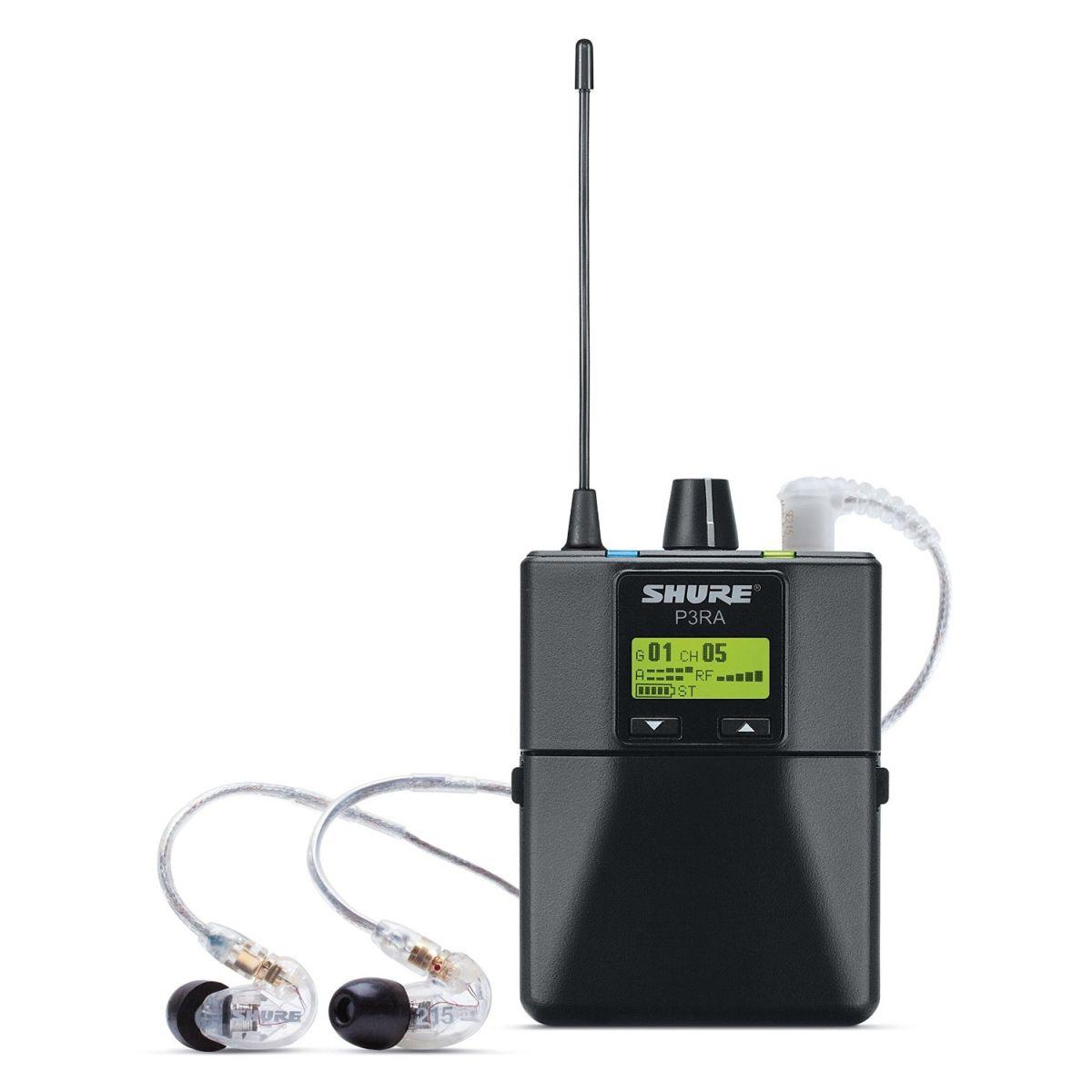 Shure P3TRA215CL PSM300 Sistema Monitoramento Sem Fio Pessoal