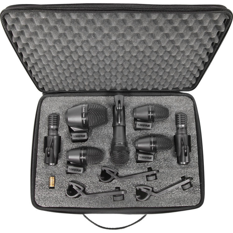 Shure PGADrumkit7 Kit 7 Microfones para Bateria