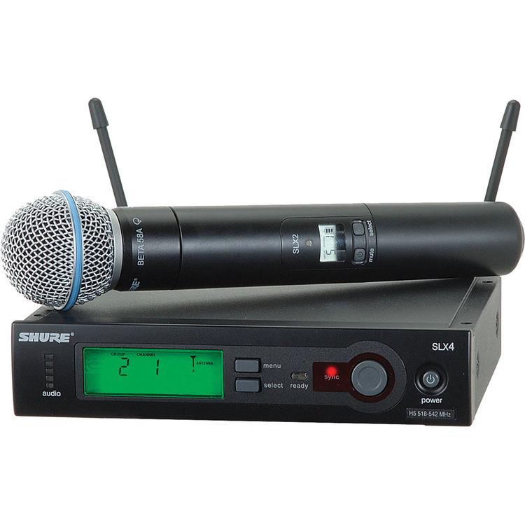 Shure SLX24/Beta58 H5 Sistema Microfone Sem Fio