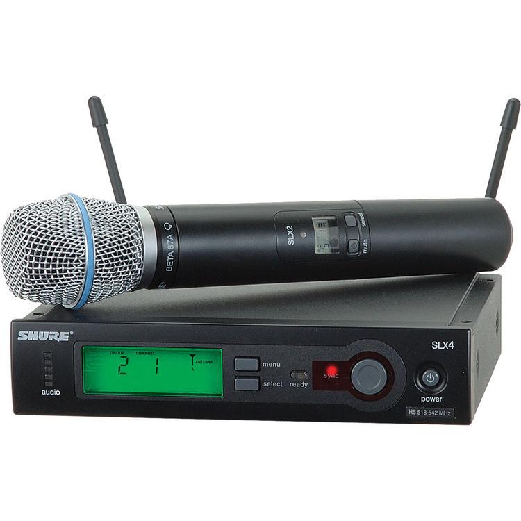 Shure SLX24/Beta87A H5 Sistema Microfone Sem Fio