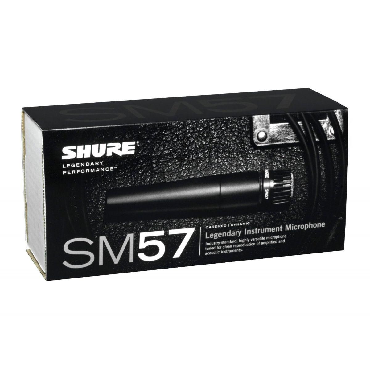 Shure SM57 LC Microfone Dinâmico Profissional