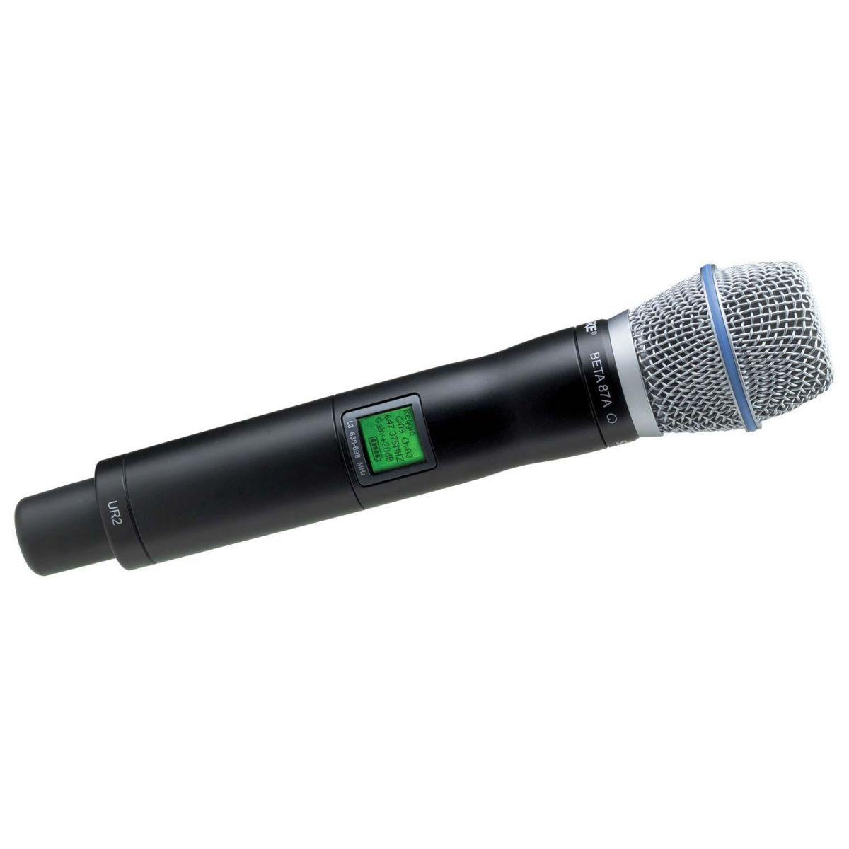 Shure UR2/Beta87A Microfone Transmissor Sem Fio UHF-R, H4