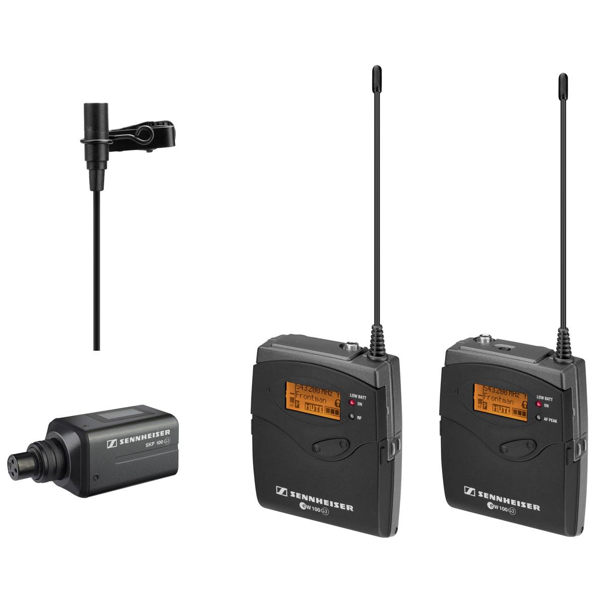 Sennheiser EW 100 Eng G3 Sistema Microfone, Lapela Câmera