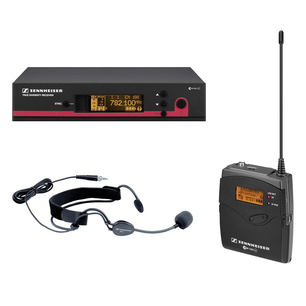 Sennheiser EW 152 G3 Sistema Microfone Sem Fio, Headset de Cabeça