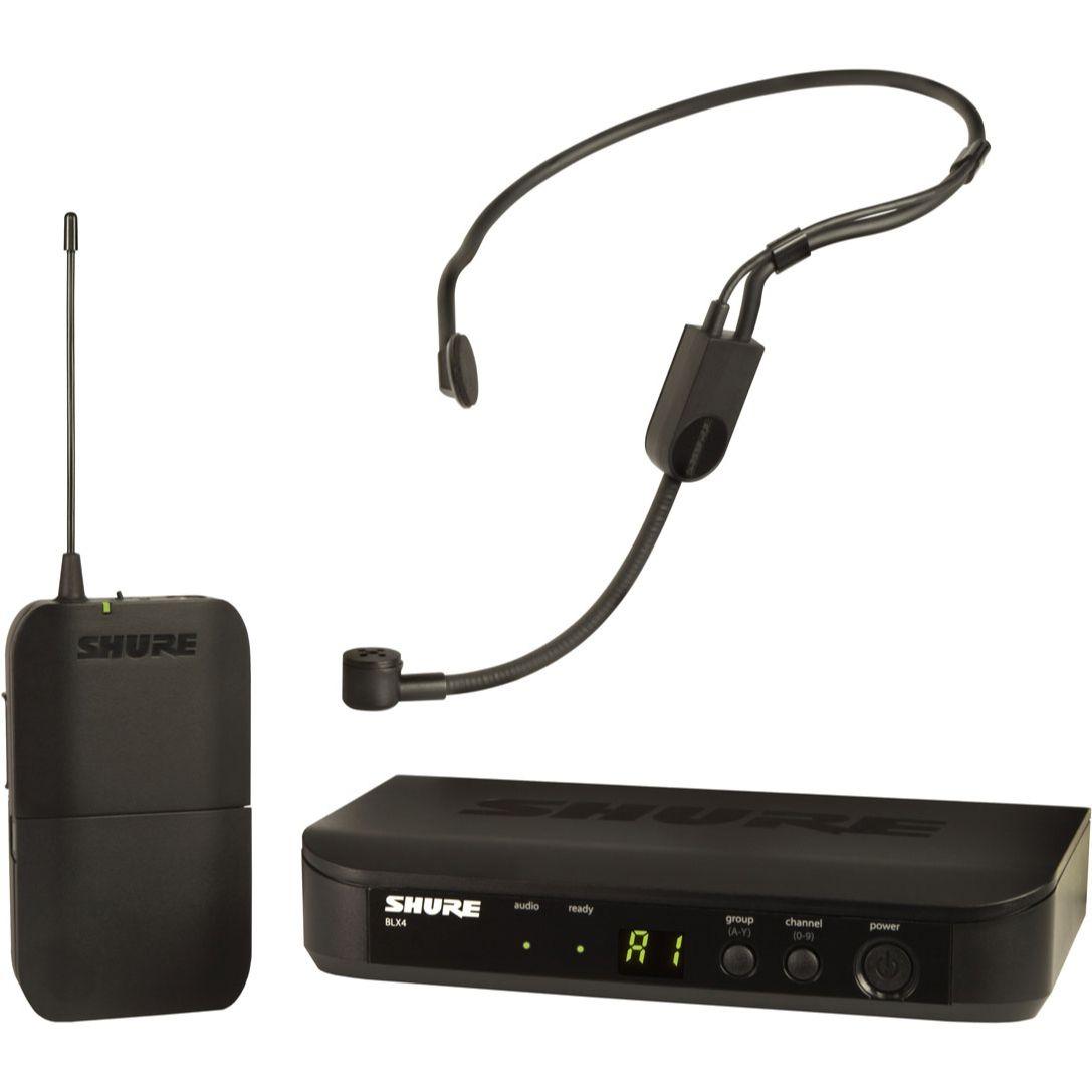 Shure BLX14/P31 Sistema Microfone Sem Fio, Headset de Cabeça