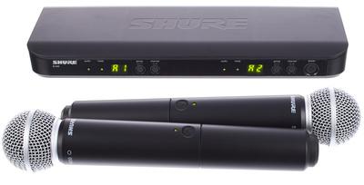 Shure BLX288/PG58 Sistema Microfone Sem Fio
