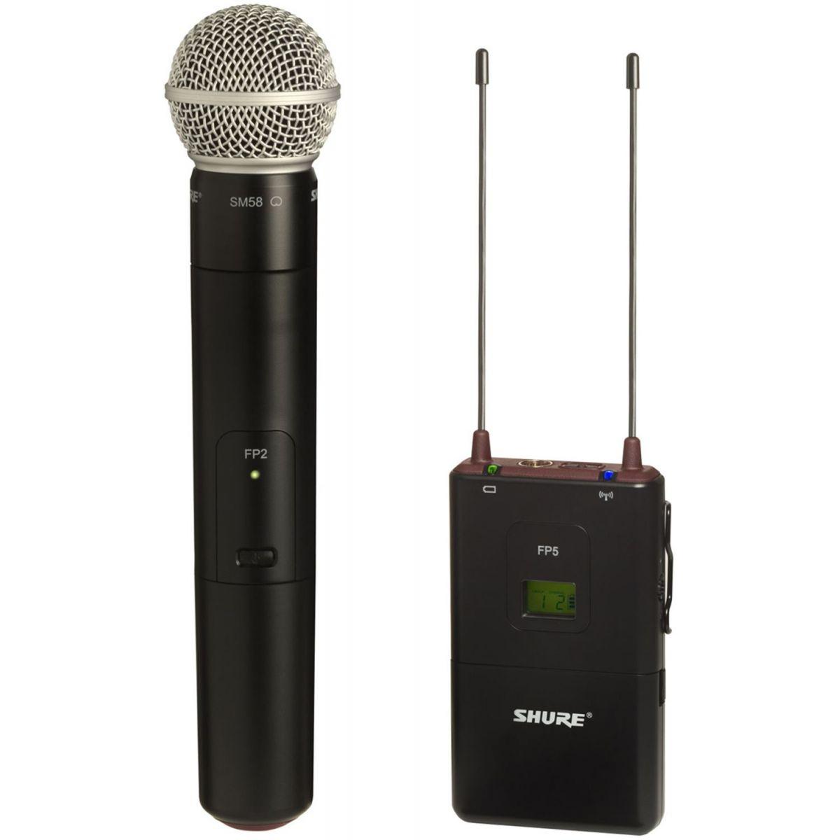 Shure FP25/SM58 Sistema Microfone Sem Fio De Mão para Câmera