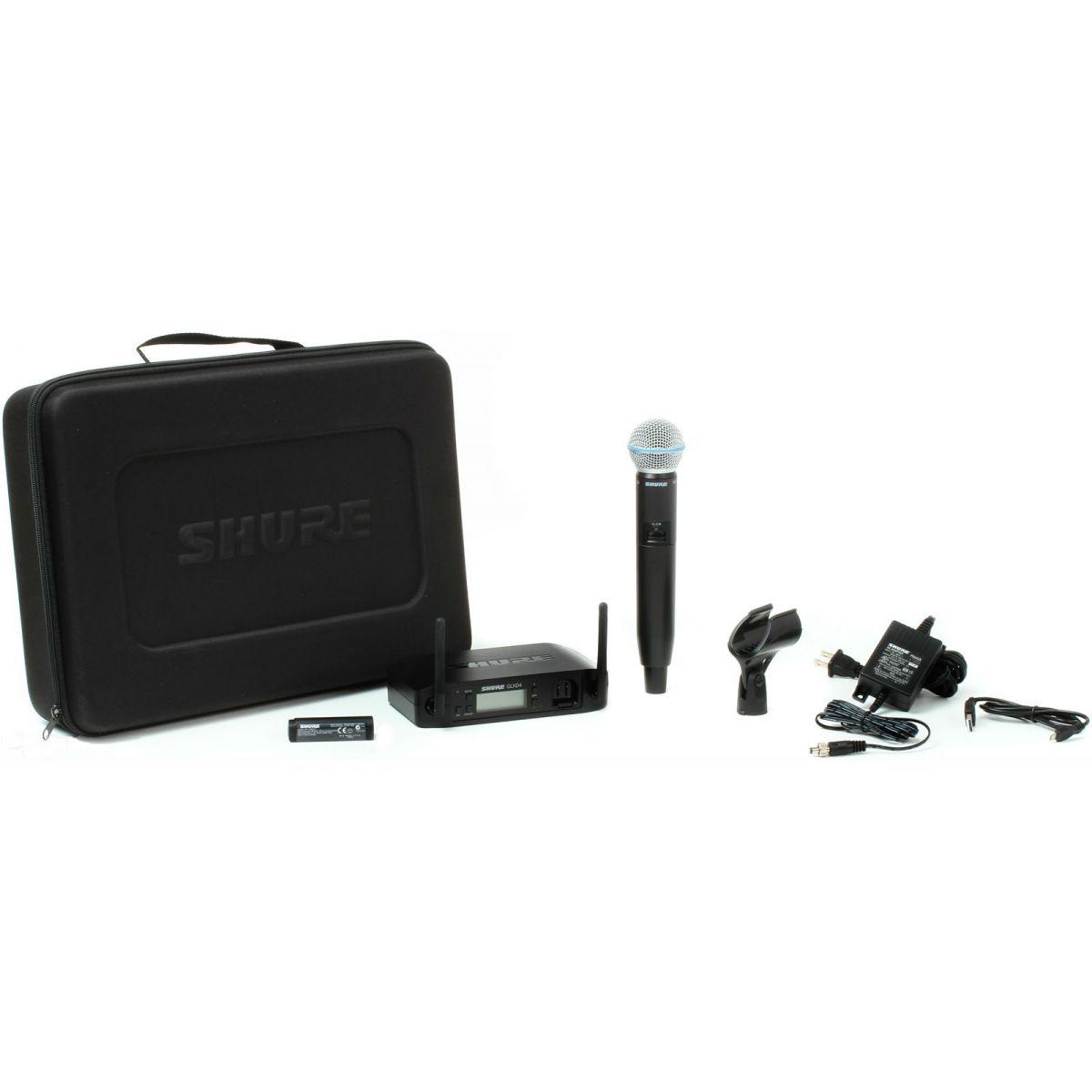 Shure GLXD24/BETA58 Sistema Microfone Sem Fio