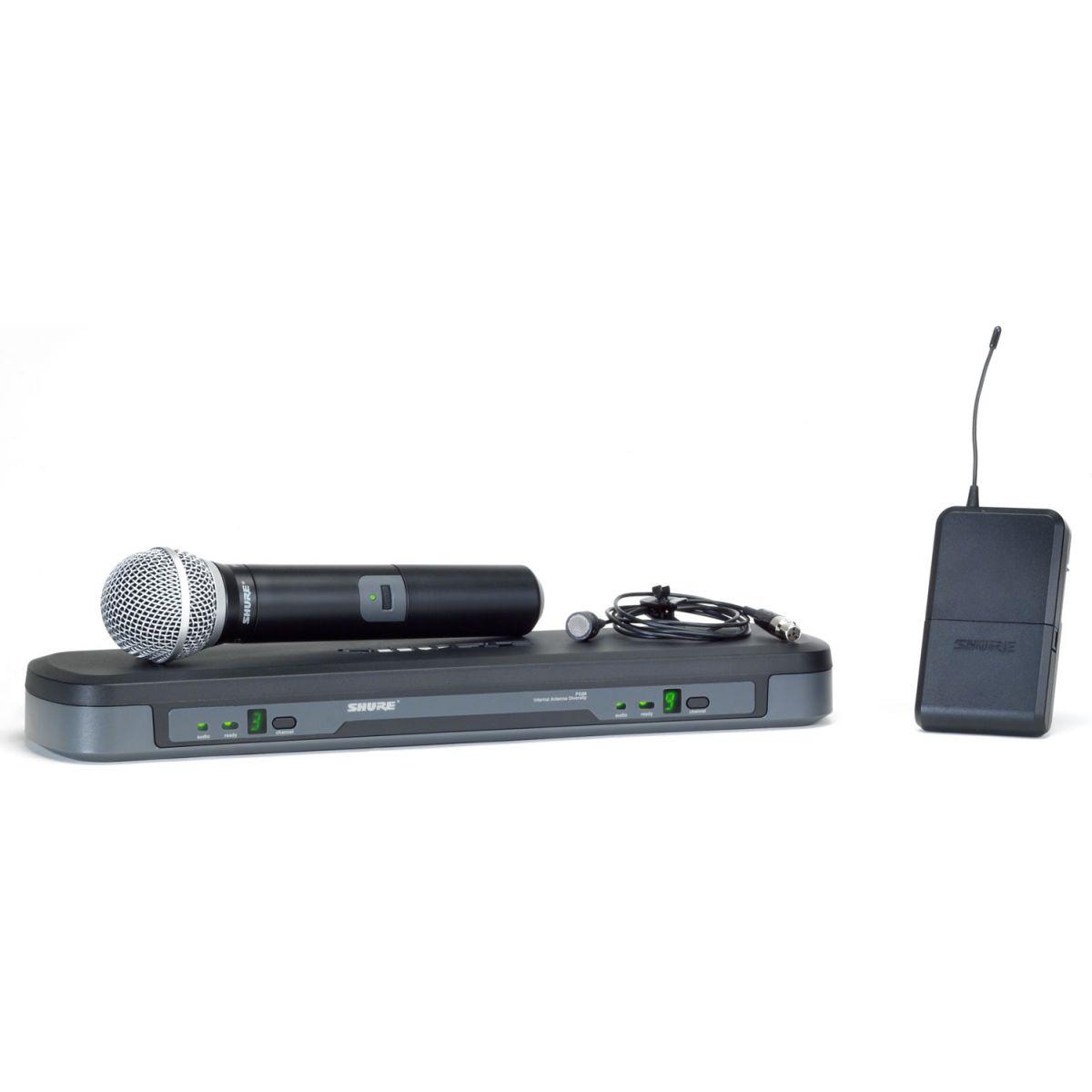 Shure PG1288/PG185 Sistema Microfone Sem Fio, Lapela+Mão