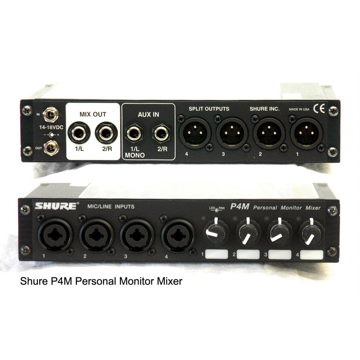 Shure P4M Sistema Monitoramento, Para PSM 400