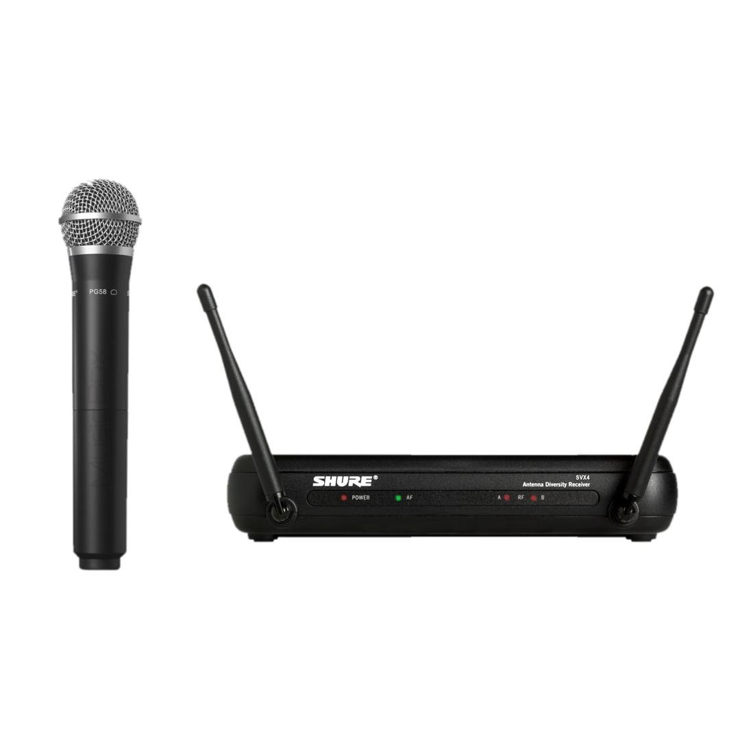 Shure SVX24 PG58 Sistema Microfone Sem Fio, De Mão