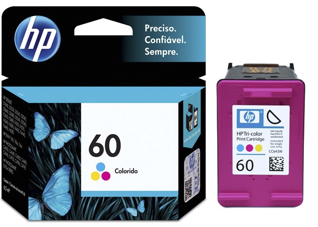 CARTUCHO HP Nº 60 COLOR (CC643WB)